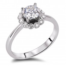 Diamond Engagement Halo Rings SGR917 (Rings)