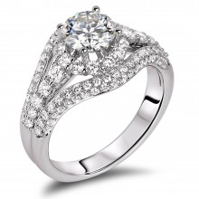 Diamond Engagement Halo Rings SGR942 (Rings)
