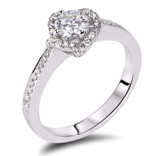 Diamond Engagement Halo Rings SGR957 (Rings)
