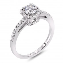 Diamond Engagement Halo Rings SGR442 (Rings)