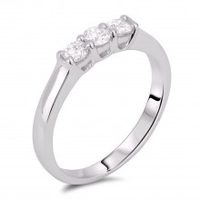 Diamond Three Stone Rings SGR602 (Rings)