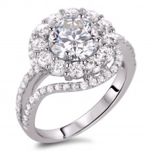 Diamond Engagement Halo Rings SGR893 (Rings)