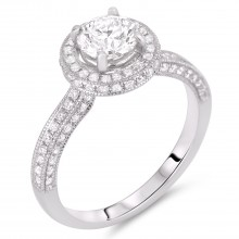 Diamond Engagement Halo Rings SGR423 (Rings)