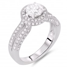 Diamond Engagement Halo Rings SGR428 (Rings)