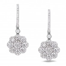 Diamond Dangle Earrings SGE229 (Earrings)