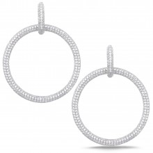 Diamond Dangle Earrings SGE266 (Earrings)