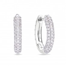 Diamond Hoop Earrings SGE266T (Earrings)