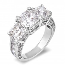 Diamond Three Stone Rings SGR766 (Rings)