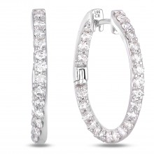 Diamond Hoop Earrings SGE271 (Earrings)
