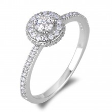 Diamond Engagement Halo Rings SGR573-SGH01 (Rings)