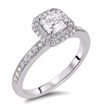 Diamond Engagement Halo Rings SGR842 (Rings)