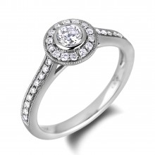 Diamond Engagement Halo Rings SGR1062 (Rings)