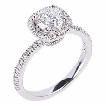 Diamond Engagement Halo Rings SGR624 (Rings)