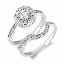Diamond Engagement Halo Rings SGR1081 (Rings)