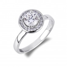 Diamond Engagement Halo Rings SGR1075 (Rings)