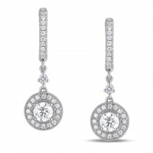 Diamond Dangle Earrings SGE160 (Earrings)