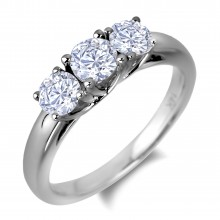 Diamond Three Stone Rings SGR1094 (Rings)