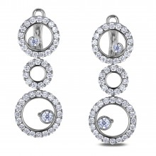 Diamond Dangle Earrings SGE317 (Earrings)