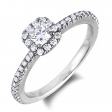 Diamond Engagement Halo Rings SGR886-SGH06 (Rings)