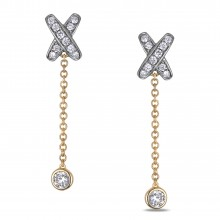 Diamond Dangle Earrings SGE320 (Earrings)
