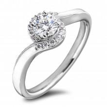 Diamond Engagement Halo Rings SGR1174 (Rings)