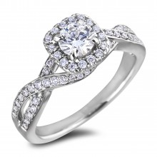 Diamond Engagement Halo Rings SGR1168 (Rings)