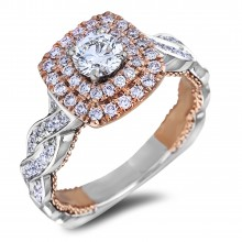 Diamond Engagement Halo Rings SGR1173 (Rings)