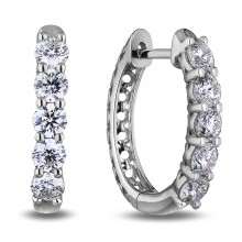 Diamond Hoop Earrings SGE344 (Earrings)