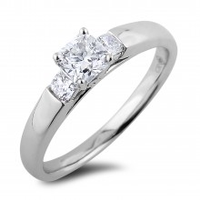 Diamond Three Stone Rings SGR1118 (Rings)