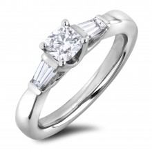 Diamond Three Stone Rings SGR1123CU (Rings)