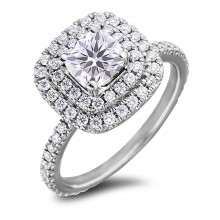 Diamond Engagement Halo Rings SGR1139 (Rings)