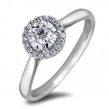Diamond Engagement Halo Rings AFCR1121020 (Rings)