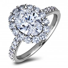 Diamond Engagement Halo Rings SGR1223 (Rings)