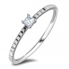 Diamond Solitaire Rings AFDR1013L(2.3-F155) (Rings)