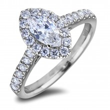 Diamond Engagement Halo Rings SGR1218 (Rings)