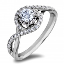 Diamond Engagement Halo Rings AFCR13180 (Rings)
