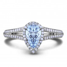 Diamond Engagement Halo Rings SGR1211 (Rings)