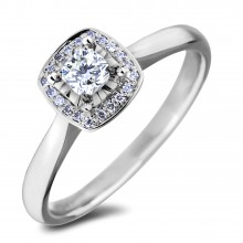 Diamond Engagement Halo Rings SGR1231 (Rings)
