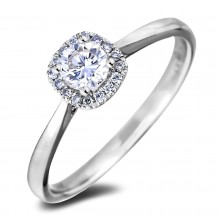 Diamond Engagement Halo Rings AFR275030 (Rings)