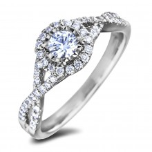Diamond Engagement Halo Rings SGR1227 (Rings)