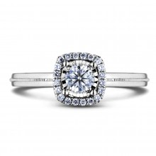 Diamond Engagement Halo Rings AFDR1024L-F150 (Rings)
