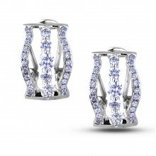 Diamond Hoop Earrings SGE354 (Earrings)