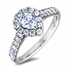 Diamond Engagement Halo Rings SGR1218PS (Rings)