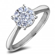 Diamond Engagement Halo Rings SGR1239 (Rings)