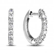 Diamond Hoop Earrings SGE259 (Earrings)