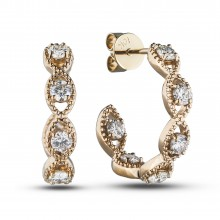 Diamond Hoop Earrings SGE376 (Earrings)