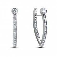 Diamond Hoop Earrings SGE382 (Earrings)