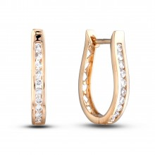 Diamond Hoop Earrings SGE238 (Earrings)